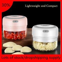 100/250ml mini elétrico moedor de alho portátil imprensa alimentos tempero masher spice chopper acessórios cozinha