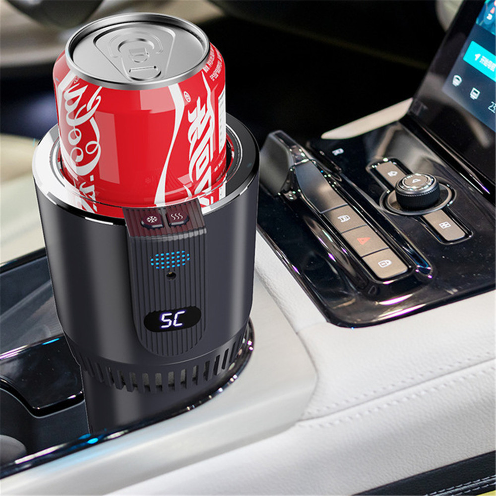 DC 12V Car Heating Cooling Cup 2-in-1 Car Office Cup Warmer Cooler Smart Car Cup Mug Holder Tumbler Cooling Beverage Drinks Cans