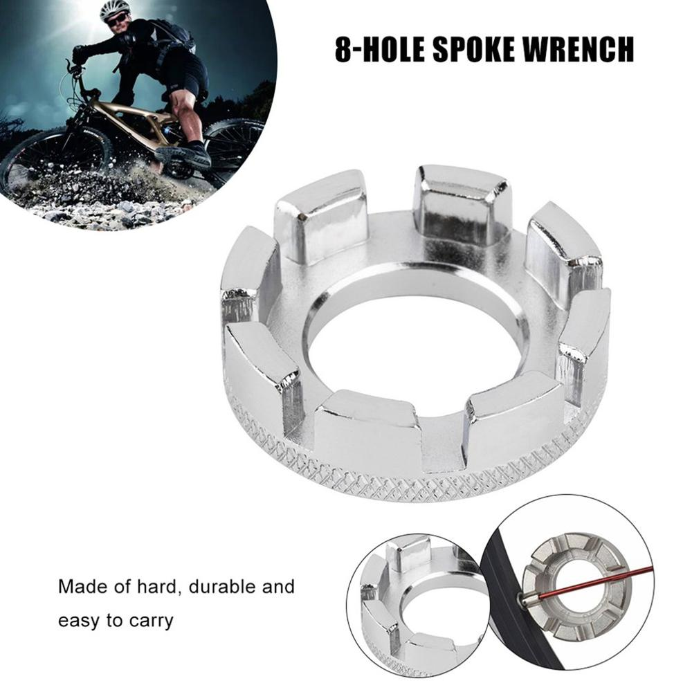 1pc Cycling Bicycle Bike 8 Way Spoke Nipple Key Wheel Rim Spanner Wrench Repair Tool Free Return