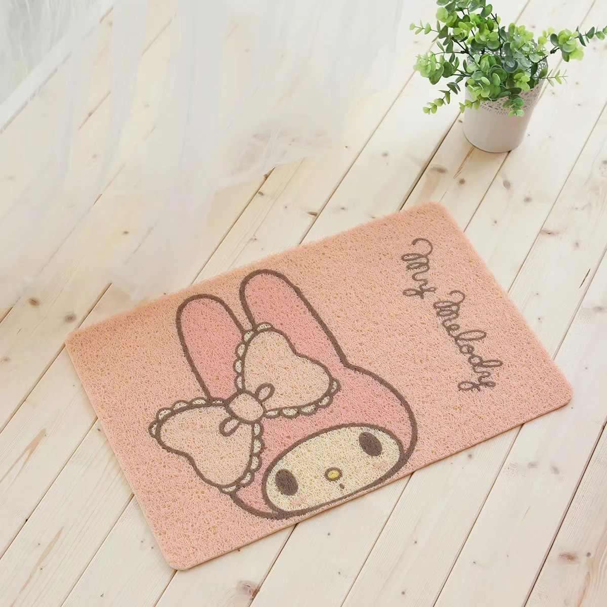 58X38CM Anime My Melody Cinnamoroll Hund Netter Teppich Dekoration Hause Weichen Teppich Kinder Cartoon Schlafzimmer Boden Matte Bad Fußmatte Neue
