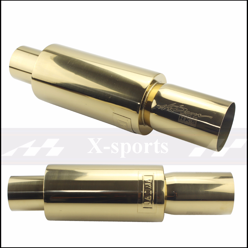 Car Exhaust Pipe Mufflers Tail Universal High Quality Stainless Steel Exhaust Systems Racing Mufflers 2 quot 2 5 quot To 3 quot Free Shipping in Mufflers from Automobiles amp Motorcycles
