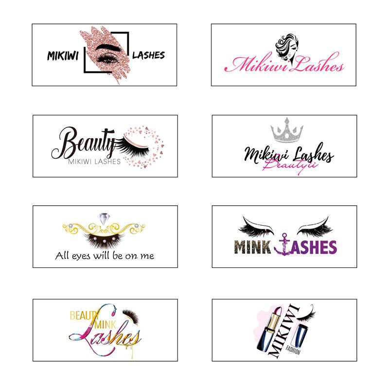 Оптовая продажа бесплатный дизайн пользовательская упаковка этикетка логотип наклейки все размеры накладные ресницы этикетки 25 мм 3D норковые ресницы брендовые наклейки