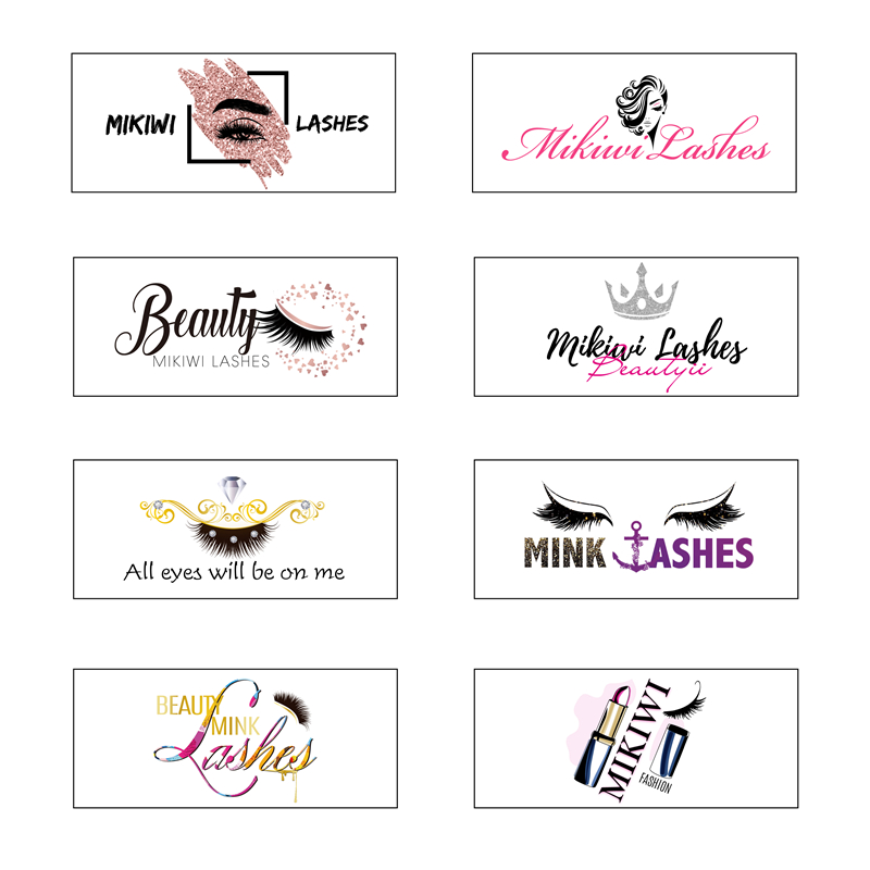 Wholesale Free Design Custom Packaging Label Logo Stickers All Size Square Round Labels 25mm 3D Mink Lashes Brand Stickers