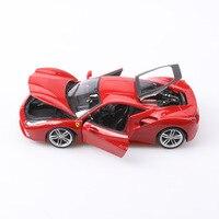 Bimeigao Model Alloy Car Model 1: 18 Ferrari Car Model 488GTB Super Sports Car Model Collection