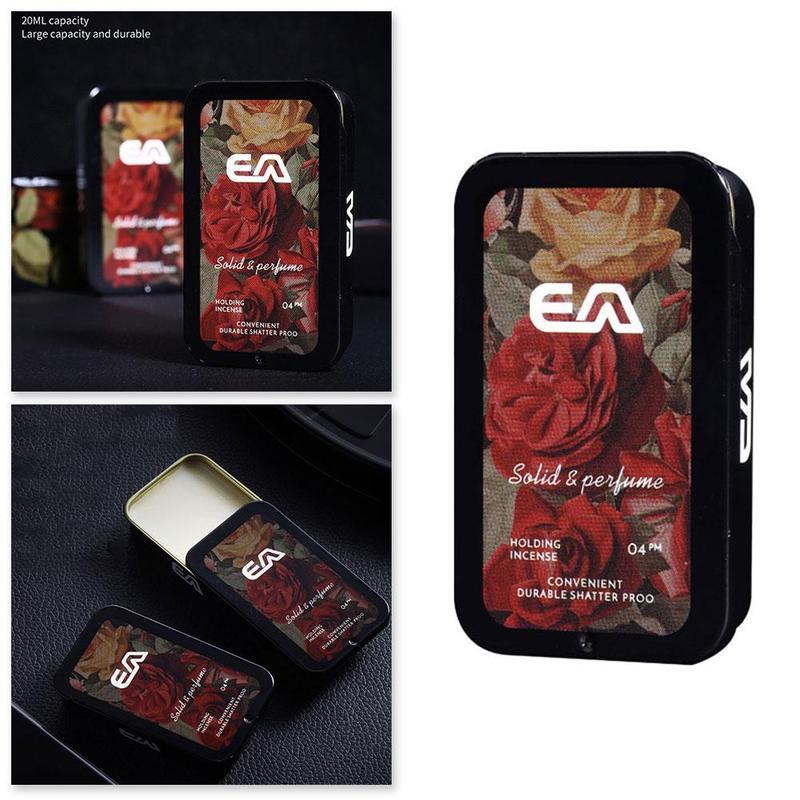 Solid Parfum Portable Fragrances Women Men Solid Perfume Portable Case Solid Balm Mild Long Lasting Aroma Deodorant Fragrance