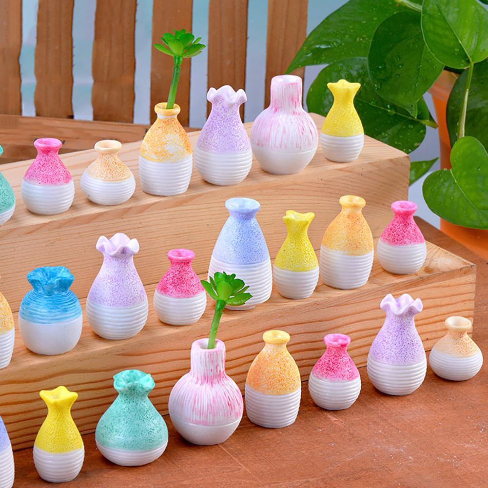 Fairy Garden Miniature Flowerpot Garden Decor Micro Landscape Resin Vase