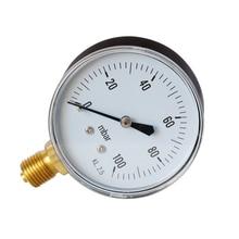 Air-Oil-Pressure-Gauge TS-Y60-0-100mbar  Vacuum Manometer Mini Dial Gauge for Water High Accuracy Hydraulic Pressure Gauge 1 2 pt threaded 1 6 accuracy class 0 1 mpa air water pressure gauge