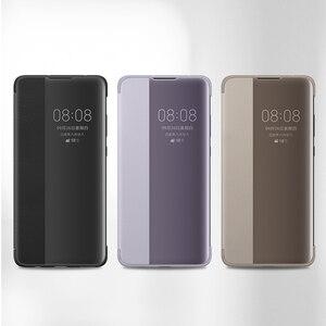 Image 2 - Чехол для смартфона Huawei, прозрачный зеркальный флип чехол для Huawei Mate30 Mate 30 Pro, умный чехол для телефона с функцией сна