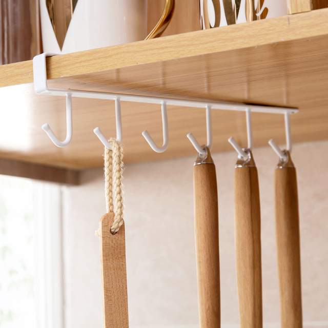 Bearing stronger Free of punch Storage Shelf  Hanging Cap Paper Shelves Kitchen Iron Multifunction Hanger - 1 Piece