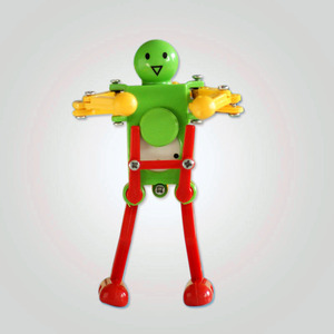 1Pcs Simplicity Series Humorous Funny Twisted Ass Dancing Wind Up Smile Robot Toys Creative Classic Make Baby Happy Toy