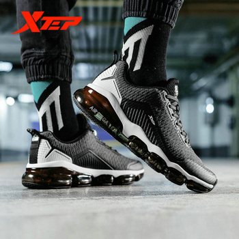 Xtep AIR MEGA męskie buty do biegania jesienne zimowe poduszki powietrzne oddychające buty lekkie wodoodporne obuwie sportowe 881119119091 tanie i dobre opinie Bounce Amortyzację Hard court Zaawansowane Dla dorosłych Wysokość zwiększenie Pu + tkaniny Średnie (b m) Niskie 881119119091 881119119210