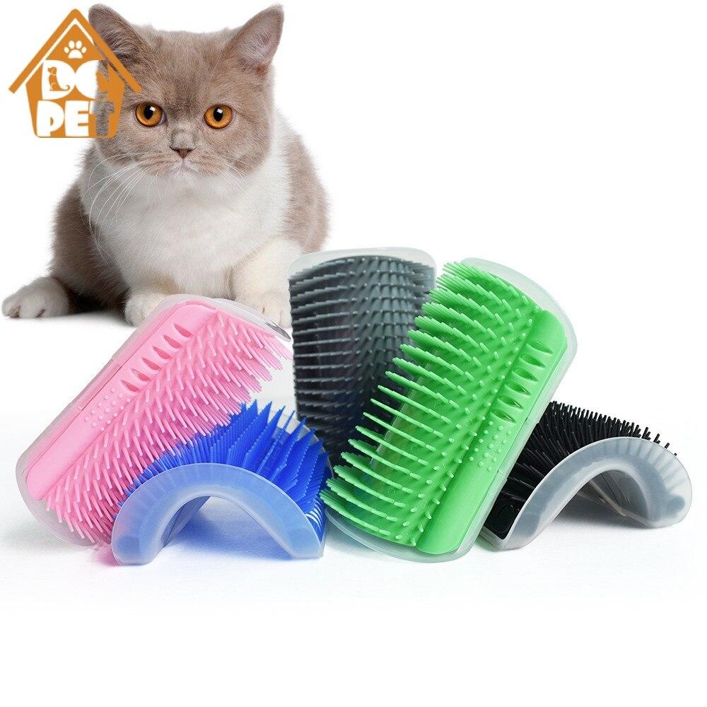 Pet Cat самогрумер с Catnip уход за лошадьми инструмент щетка для вычесывания животных гребень для товары кошек волос линять отделка Собака Кошка...