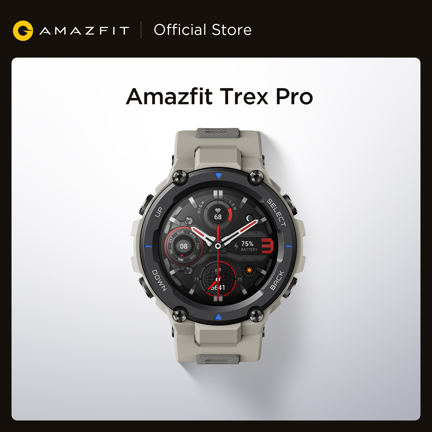 Permalink to Original Amazfit Trex Pro Outdoor Smartwatch 100+ Sports 10 ATM 18-day Battery Life Swimming Smart Watch For Android iOS Phone