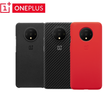 100% Original Official OnePlus 7T Case Cover Karbon Sandstone silicone Cushion protective Case Shockproof