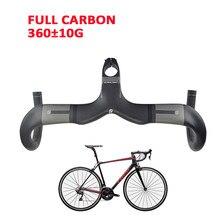Guidon plié en Fiber de carbone avec tige mat course sur route vélo Drop Bar routage intérieur 400/420/440mm haut vélo pièces de rechange