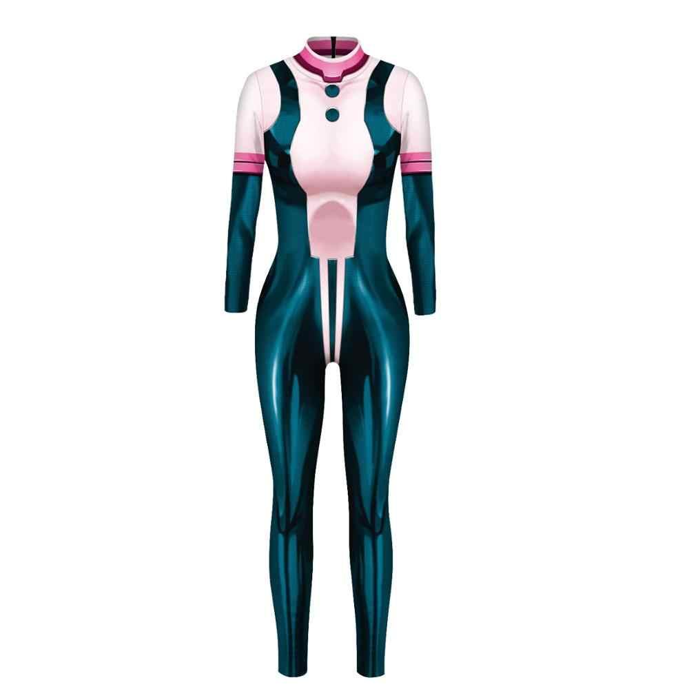 PLstar Kosmos Vrouwen/meisje 3D japan anime My Hero Academia Cosplay Kostuum Bodysuit Jumpsuits Halloween Kerst Fullbody Pak- 3