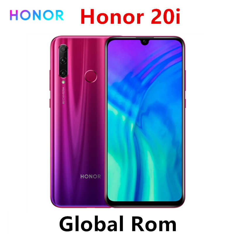 Global Rom Honor 20i Original Honor 20 lite téléphone portable 6.21 pouces Hisilicon Kirin 7 Octa Core Android 9.0 visage empreinte digitale ID