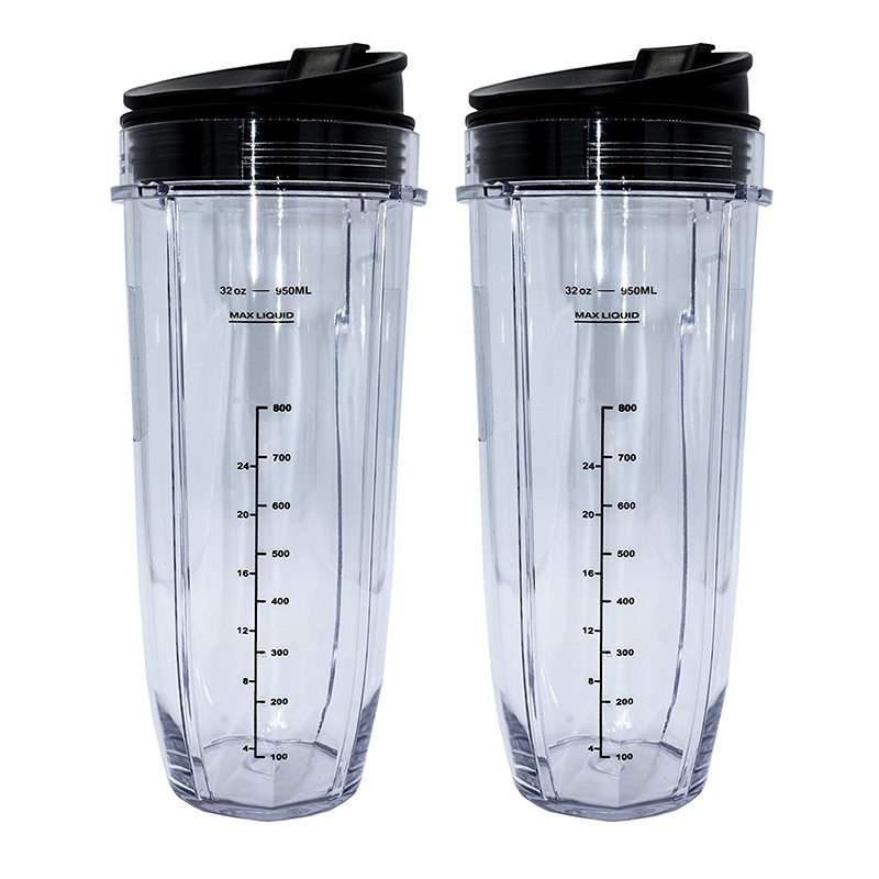32 Ounce Cup with Sealed Lid Ninja Replacement Parts and Accessories for Nutri Ninja Auto IQ 1000W and Dual Blender|  - title=