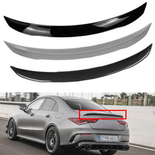 For Mercedes Benz W118 C118 CLA35 CLA180 CLA200 CLA250 CLA45 AMG Line 2019 2020-2024 Rear Trunk Boot Spoiler Tail Wing Lip ABS