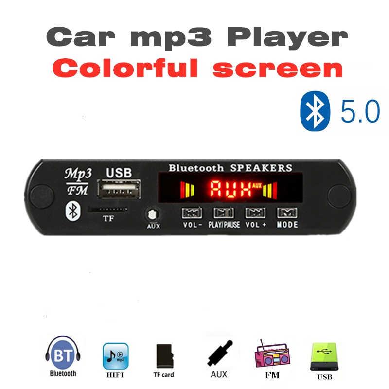12V Bluetooth5.0 MP3 Scheda di Decodifica Modulo Senza Fili Per Auto USB Lettore MP3 Fessura Per Carta di TF/USB/FM/scheda di Decodifica a distanza Modulo