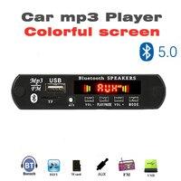 12v bluetooth 5.0 mp3 decodificação placa módulo  sem fio carro usb mp3 player tf cartão slot/usb/fm/módulo da placa de decodificação remota