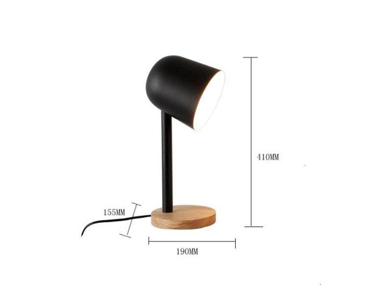 Mini ferro simples candeeiro de mesa de madeira olho proteger lâmpada de mesa lampara de mesa - 3