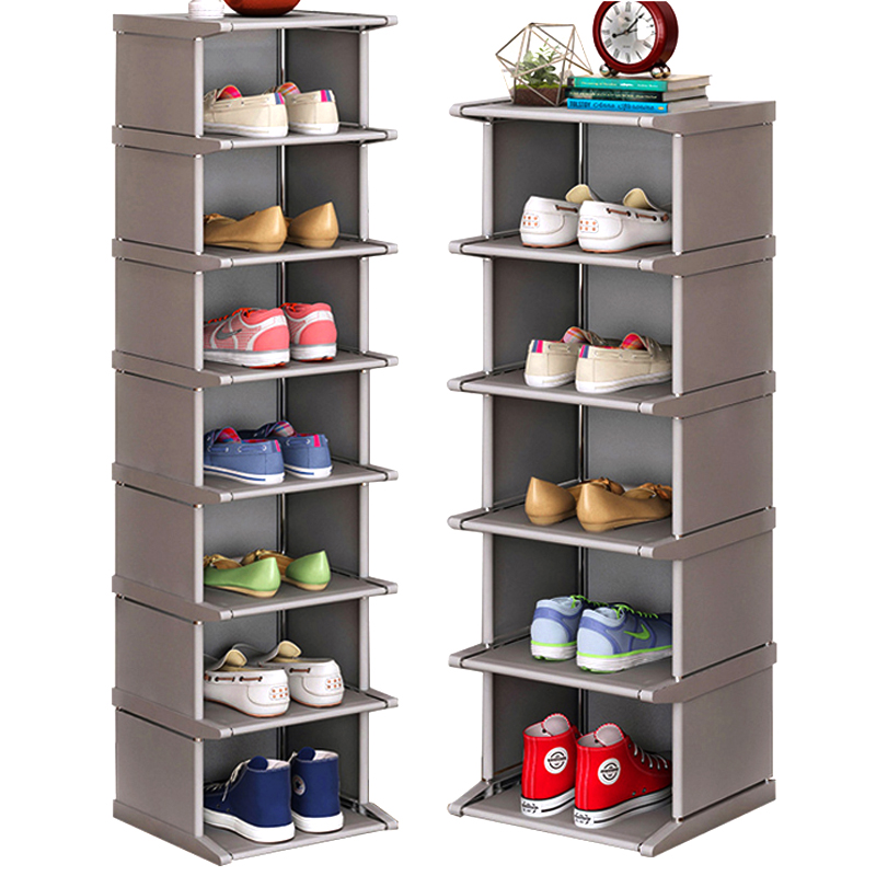 Multi-Layer Shoe Rack Vertical Dustproof Shoe Cabinet Assembled Shelf Furniture Home Standing Saving Space Shoes Organizer