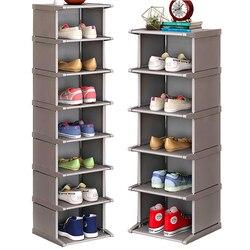 Wielowarstwowy stojak na buty pionowa pyłoszczelna szafka na buty zmontowane meble półkowe dom stojący oszczędność miejsca organizer na buty w Szafki na buty od Meble na