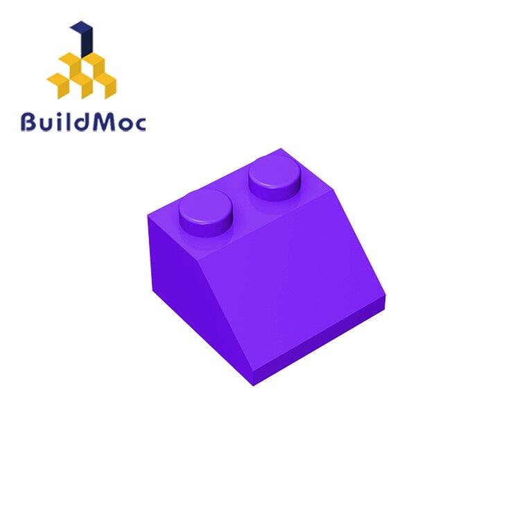 Buildmoc 3039 inclinação 45 2x2 para blocos de construção peças diy educacional clássico marca presente brinquedos