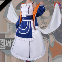 High Quallity Anime Arknights Perfumer Lena Woman Lolita Cosplay Costume Dress + Coat + Apron + Bowknot + Band + Accessory