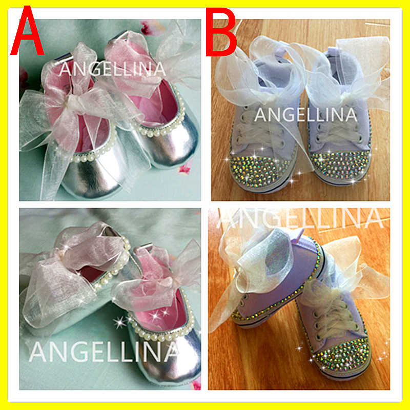 Custom Sparkle Bling Baby Shoes hand