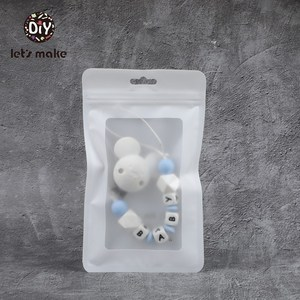 Image 5 - Lets Make Plastic Bags White 100pcs 19.5x11.5cm Display Bags BPA Free Baby Silicone Beads Package Jewelry Pendant Bags Teether