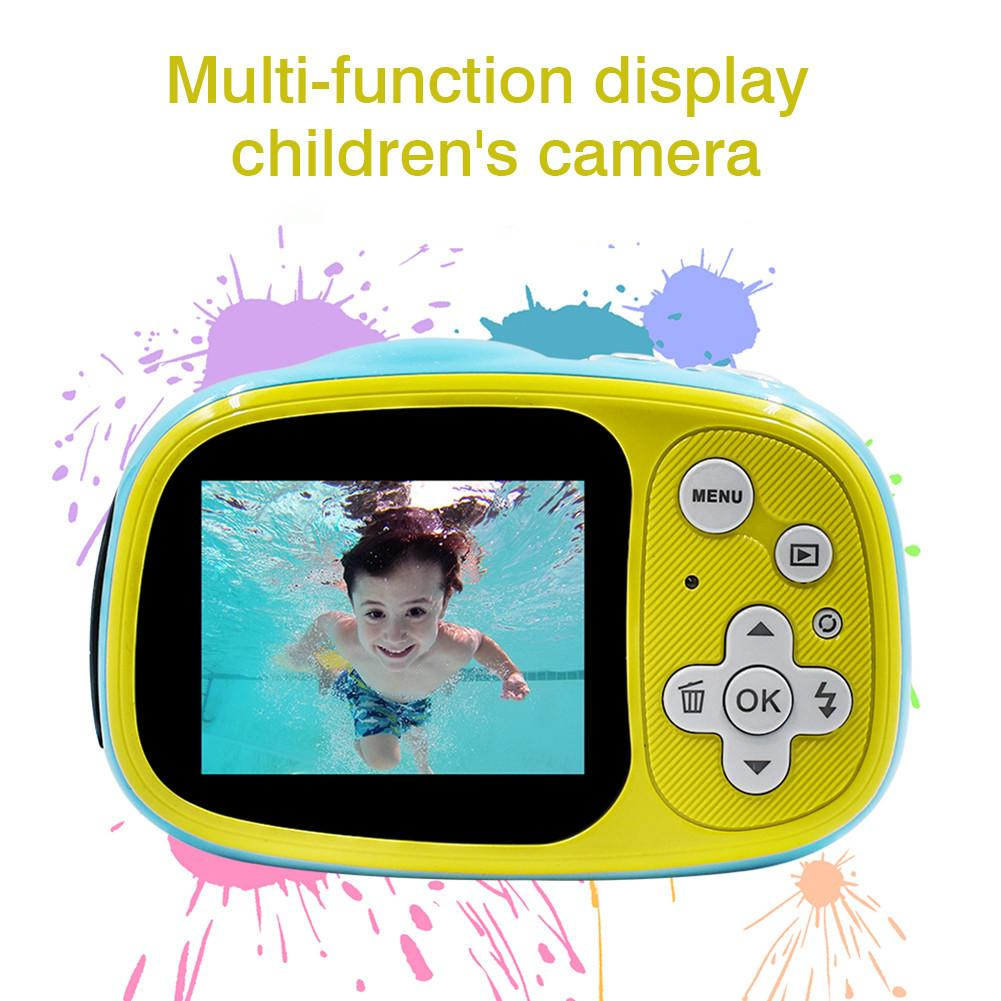 32G/16G Waterproof Kids Camera Toys Baby Cool Digital Photo Camera Children Educational Toy 12 Languages Supported Birthday Gift