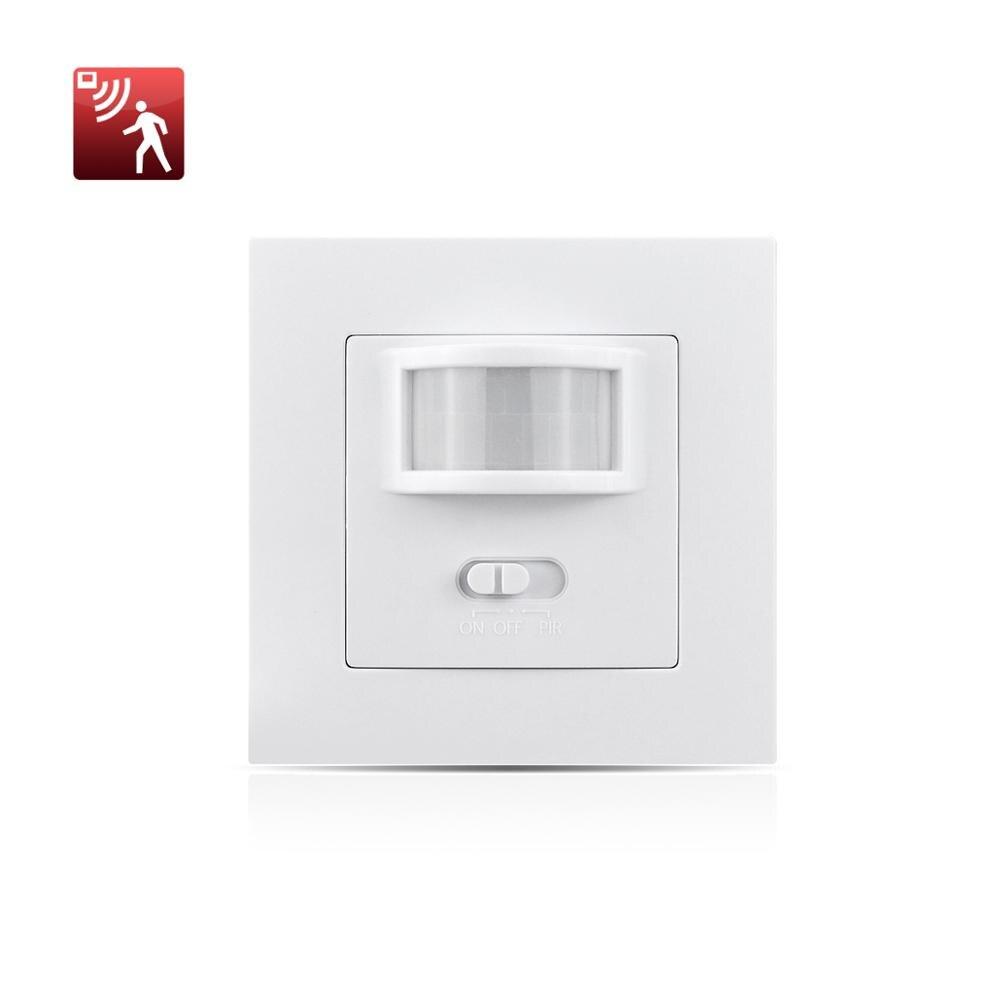 110-250V PIR Einbau Bewegungsmelder Infrarot LED Sensor Detector Schalter