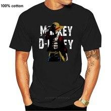 Цельная футболка Monkey D. Luffy, повседневная мужская верхняя одежда, популярный дизайн, Мужская футболка в стиле хип-хоп с аниме