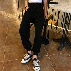 Image 4 - מכנסיים נשים פשוט רופף קרסול אורך מכנסיים קוריאני סגנון שרוך רכה סטודנטים נשים מוצק קיץ לנשימה גבירותיי יומי