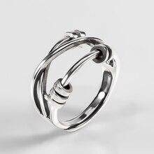 Ckysee anel de prata esterlina 925, joia para mulheres anel de dedo aberto de casamento anéis de noivado