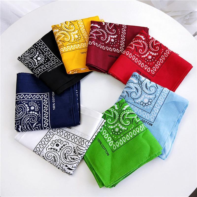 Unisex Cotton Blend Square Scarf Hip Hop Bandana Headwear Hair Band Scarf Neck Wrist Wrap Band Magic Head Fashion Scarf