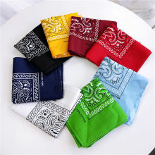 Unisex Cotton Blend Square Scarf Hip Hop Bandana Headwear Hair Band Scarf Neck Wrist Wrap Band Magic Head Fashion Scarf(China)