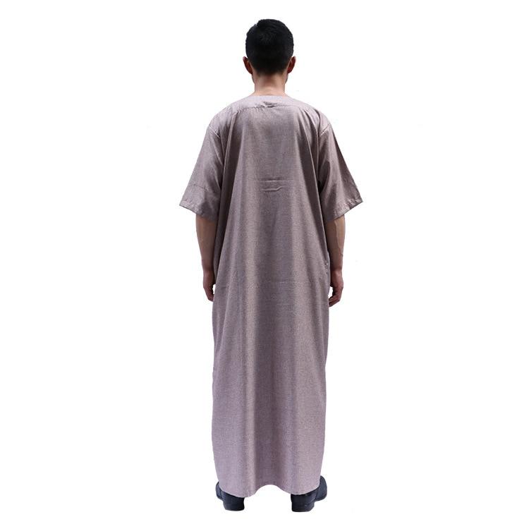 Yiwu Supply Of Goods Muslim MEN'S Short Sleeve Shirt Robes Middle East Platform Hot Selling Hui Nationality Clothing