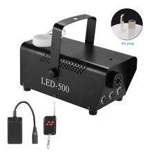RGB Nevoeiro Máquina de Fumaça de Controle Remoto Sem Fio de Multi cor Festa Luz Palco Portátil