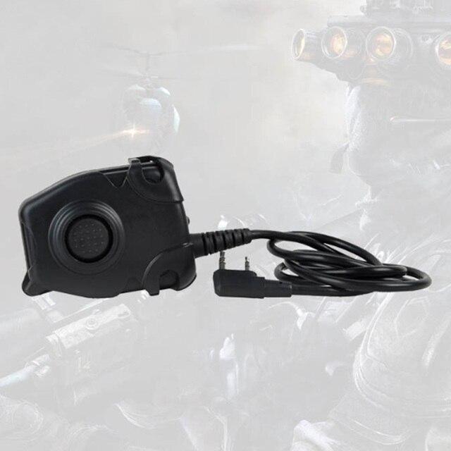 Z112 2 Pin Peltor Typ Tragbare Push Zu Sprechen Sprech Headset Adapter Zubehör Professionelle Radio Taste Schalter