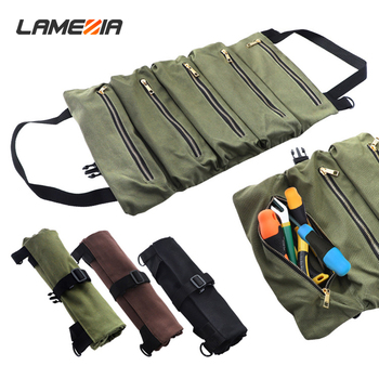 Portable Oxford Cloth Tool Kit Thickened Canvas Bag Large Capacity Multifunctional Roll Wear-resistant Storage Package large multifunctional oxford cloth repair after sales electrical bag canvas double shoulder pulley pull rod tool bags