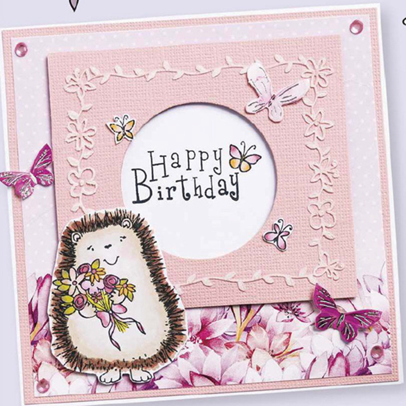 Lovely Hedgehog Clear Stamps for DIY Scrapbooking Card Birthday Transparent Making Photo Album paper Craft Decor
