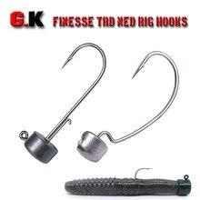 Hameçon de plomb pour pêche au bar, tête de gabarit, crochets de leurre barbelé, ver d'appât souple pour la pêche au bar, 4 pièces/lot