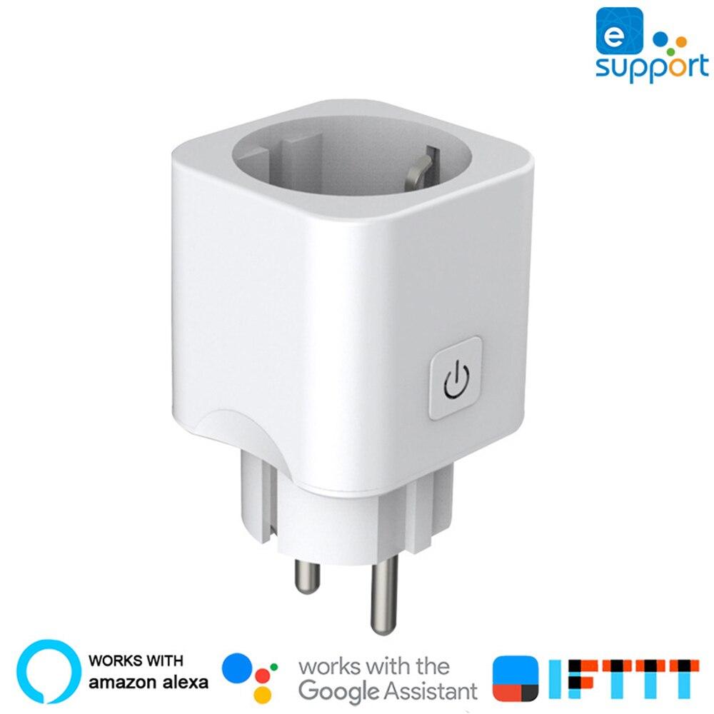 Casa inteligente Plugue Wi-fi Mini Inteligente Plugue Wi-fi Tomada Inteligente EU Plug EWeLink Compatível Com Alexa/Google Home Mini /IFTTT
