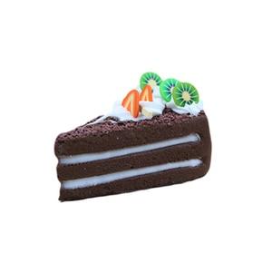 Image 4 - 3 pcs/6 pcs עוגת מזויף פירות עוגת דגם מודל עוגת תה שולחן קישוט מלאכותי פירות עוגות קינוח מזויף