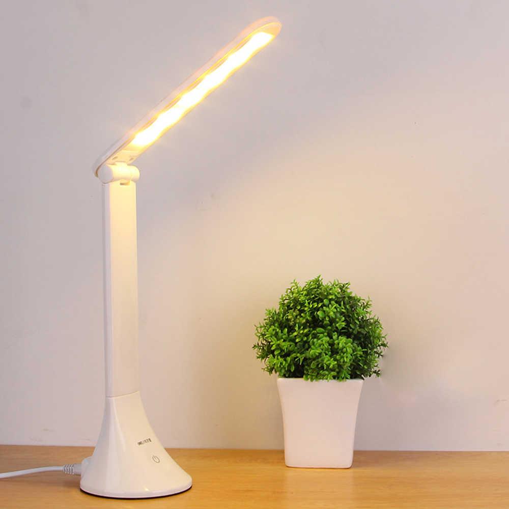 LED שולחן אור USB מתכוונן מתקפל עין מגן ילדי מגע שולחן מנורת משרד שינה קריאת מנורת הנמוך ביותר מחיר