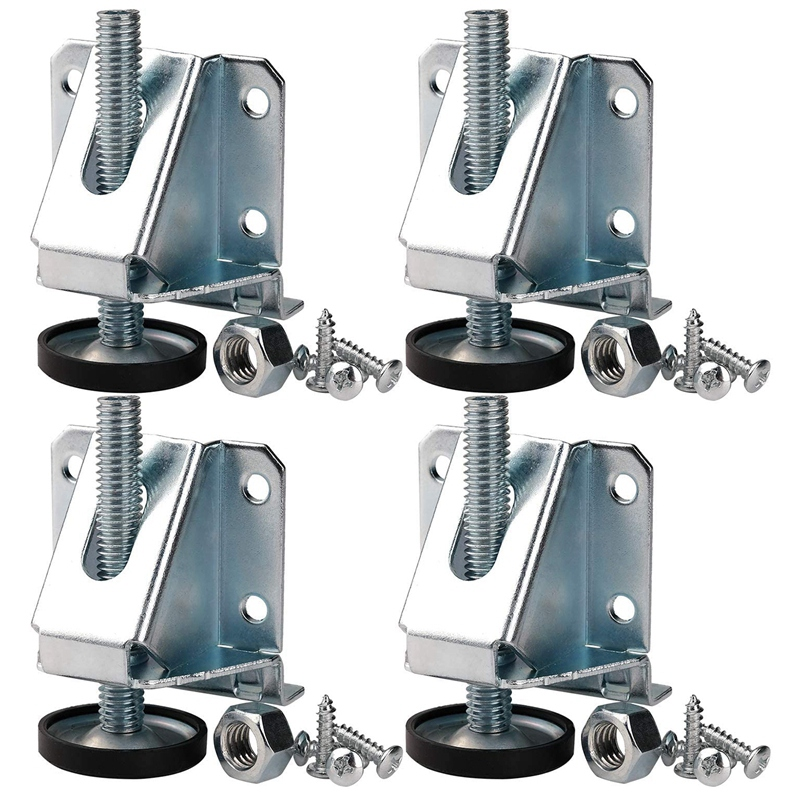 Leveling Feet Heavy Duty Furniture Levelers Adjustable Table Leg Leveler With Lock Nuts For Furniture,Table, Cabinets, Workbench