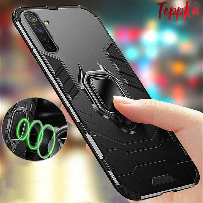 Armor Shockproof Ring Holder Case for Oneplus Nord Case Hard PC Soft TPU Hybrid Back Cover For Oneplus Nord Funda